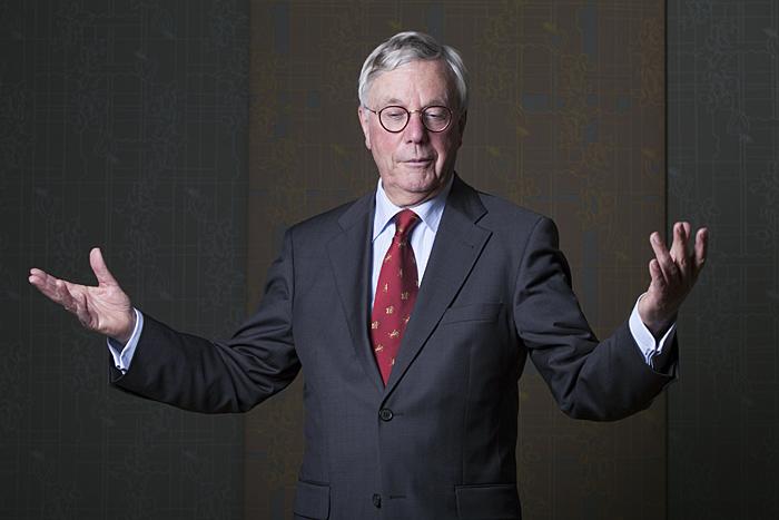 DEN HAAG - Portret van Joris van Bergen, voorzitter van de Landelijke Commissie Gedragscode Hoger Onderwijs. FOTO EN COPYRIGHT HENRIETTE GUEST