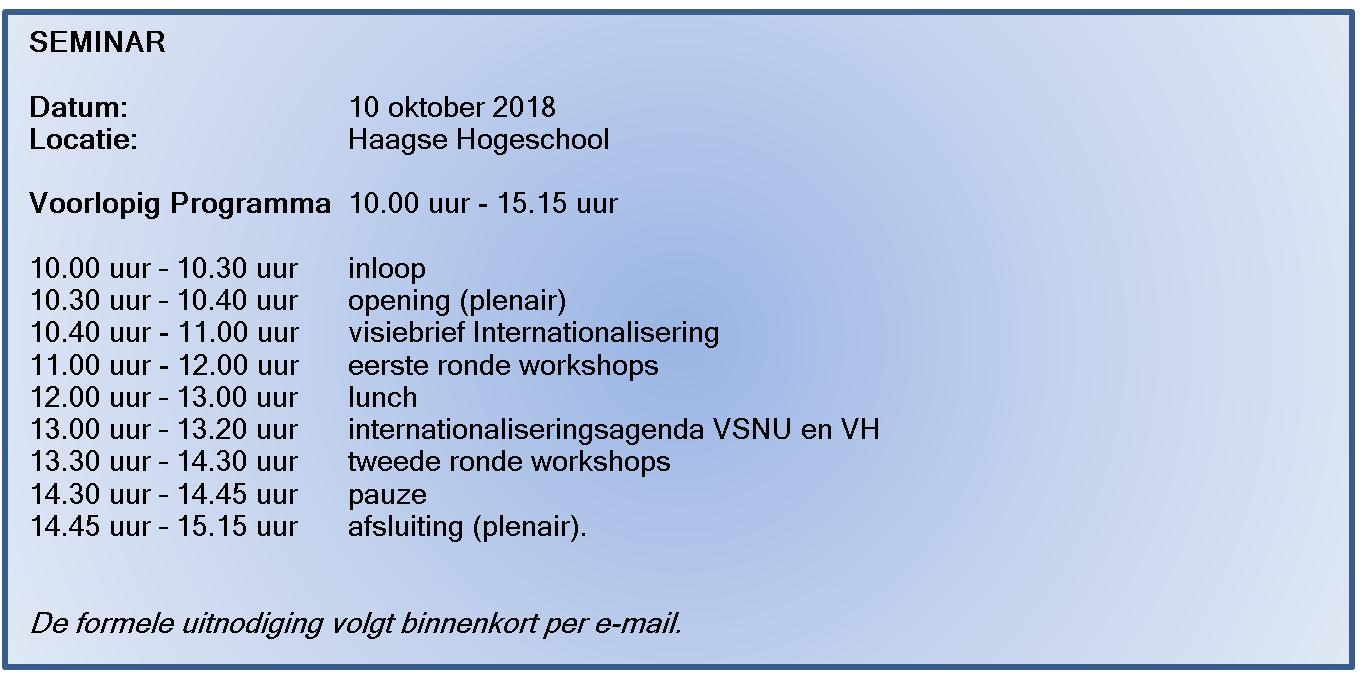 programma seminar